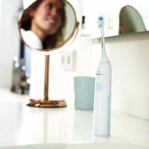 Philips Sonicare Essence+ rechargeable electric toothbrush, Mid Blue, Frustration Free HX3211/30