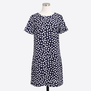 Petite printed short-sleeve gallery dress : Dresses | J.Crew Factory