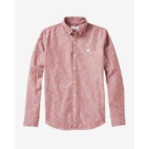 Small Lion Button Collar Shirt