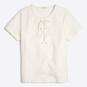 Lace-up T-shirt : Knits & T-Shirts | J.Crew Factory