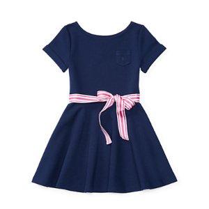 Ponte Fit-and-Flare Dress - Dresses � Girls' 2-6X - RalphLauren.com