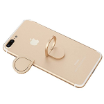 Cell Phone Ring Holder 360° Rotation Finger Mobile Phone Stand Metal Kickstand Work on Magnetic Car Mount Universal Smartphone Stand for iPhone 7 7Plus 6 6Plus (Gold)