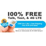 FreedomPop 3-In-1 4G LTE SIM Kit: Unlimited Talk & Text + 2GB Data Trial + 8GB MicroSD