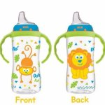 NUK Jungle Designs Large Learner Cup in Boy Patterns, 10-Ounce