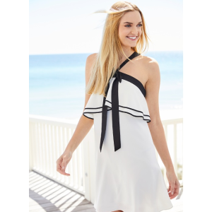 CeCe Tiered Popover Halter Dress | Belk