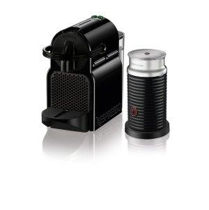 $101.69 Nespresso Inissia Espresso Machine by De'Longhi with Aeroccino, Black