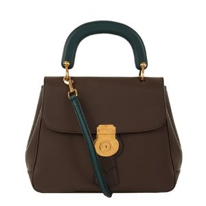 Burberry Runway Contrast Top Handle Tote Dark Chocolate