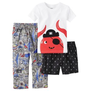 Baby Boy 3-Piece Cotton & Jersey PJs | Carters.com