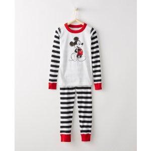 Disney Mickey Mouse Long John Pajamas In Organic Cotton
