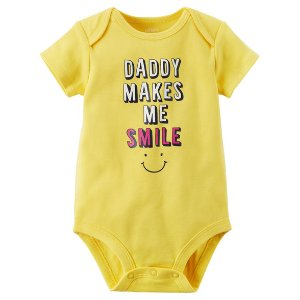 Daddy Makes Me Smile Collectible Bodysuit