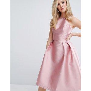 Chi Chi London Structured Satin Prom Dress
