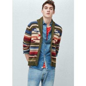 Printed cotton-blend cardigan - Men | OUTLET USA