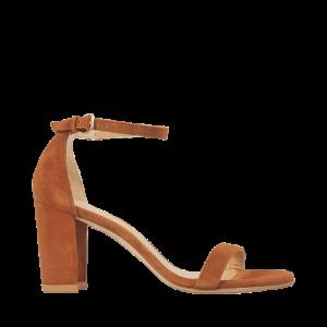 Nearly Nude Strap Sandal Stuart Weitzman Brown - Monnier Frères
