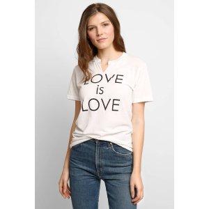 JET Love is Love Notch Neck Tee   South Moon Under