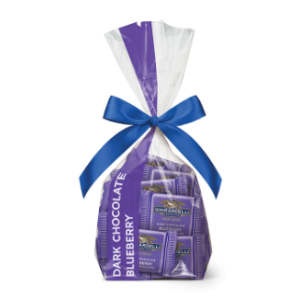 Dark Chocolate Blueberry SQUARES Gift Bag (33 pc) | Ghirardelli