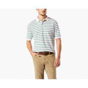 Pique POLO, Standard Fit | GREEN STRIPE | Dockers® United States (US)