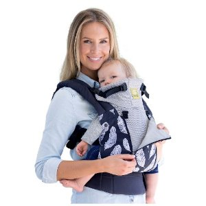 LILLEbaby 6-Position COMPLETE All Seasons Baby & Child Carrier - Charcoal with Feathers