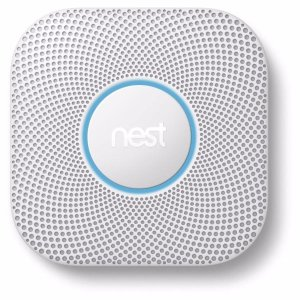 Nest AC Hardwired Photoelectric Combination Smoke and Carbon Monoxide Detector with with Battery Back-Up