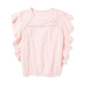 Ruffle-Sleeve Tee for Girls