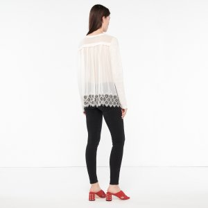 T-Shirt With All-Lace Back - Tops & Shirts - Sandro-paris.com