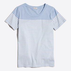 Drop-striped scoopneck T-shirt : Striped | J.Crew Factory