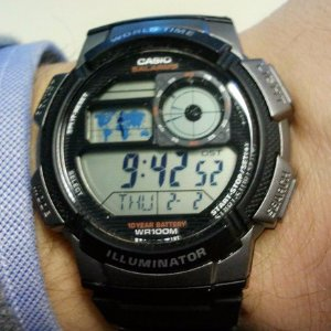 $14.53 ( Orig $35 )Casio Men's AE-1000W-1AVCF Resin Sport Watch with Black Band