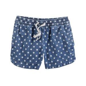Chambray Star Shorts