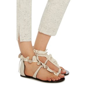 Audry Ruffle-Trimmed Leather Sandals by Isabel Marant