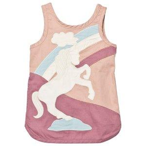 Stella McCartney Kids Dusty Rose Unicorn Patch Dress | AlexandAlexa
