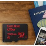 SanDisk Ultra 200 GB MicroSDXC UHS-I Memory Card with SD Adapter