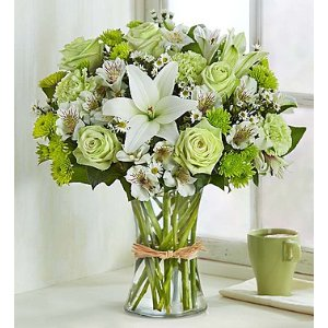 Serene Green™ and White Flowers