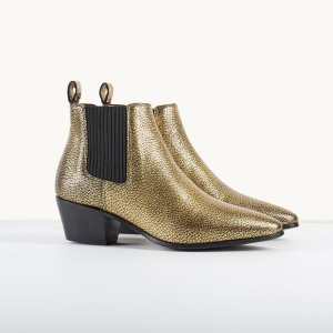 FIME Crackled leather Chelsea ankle boots - Shoes & Accessories - Maje.com