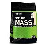 Optimum Nutrition Serious Mass Gainer Protein Powder, Vanilla, 12 Pound