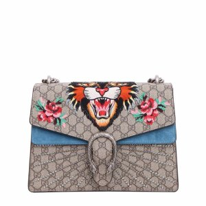 Best price on the market: Gucci Gucci 'dionysus' Shoulder Bag With Angry Cat Patch