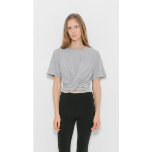 T by Alexander Wang Front Twist Short Sleeve