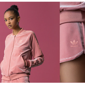 爆款粉色天鹅绒T恤$40+ 免邮adidas Originals 三叶草最新秋冬系列发售 新款只要$35