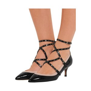 Love Latch eyelet-embellished patent-leather pumps | Valentino | US | THE OUTNET