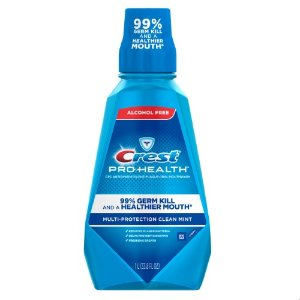 Crest Pro-Health Multi-Protection Alcohol-Free Mouthwash, Clean Mint, 1 L  by Crest