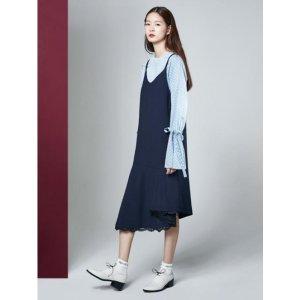 THE STUDIO K [NAVY] 16FW UNBALANCE SLIP DRESS