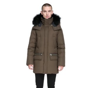 STEFANO-F5 LUX DOWN WINTER PARKA WITH FUR HOOD