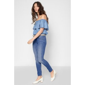 The Skinny in Adelaide Bright Blue - 7FORALLMANKIND