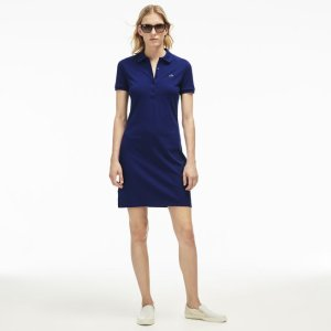 Women's Stretch Piqué Polo Dress | LACOSTE