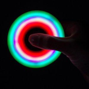 $5.49Black LED Light Fidget Tri Spinner Focus Toys ABS Finger Ball