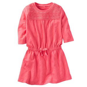 Kid Girl Heather Lace Dress   OshKosh.com