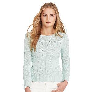 Cable-Knit Crewneck Sweater - Scoop, Crew & Boatnecks � Sweaters - RalphLauren.com