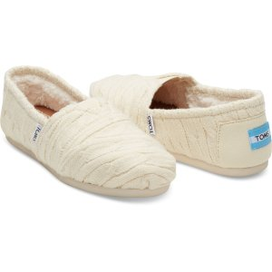 Natural Cable Knit Shearling Women's Classics | TOMS®