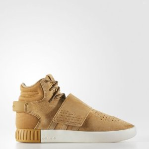 adidas Tubular Invader Strap Shoes Kids' Brown | eBay