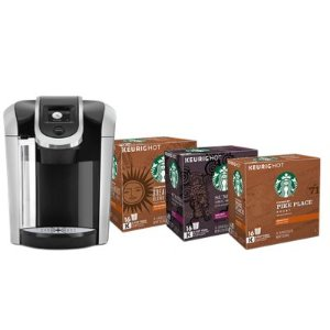 Keurig® Brewer and Starbucks® Coffee Pods Bundle