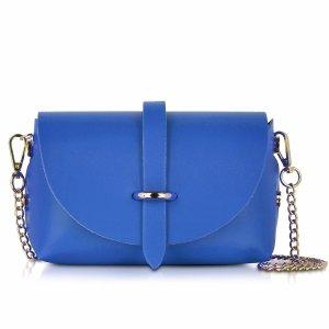 Le Parmentier Caviar Small Blue Leather Shoulder Bag at FORZIERI