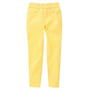 Girls Lemon Yellow Super Skinny Pants by Gymboree